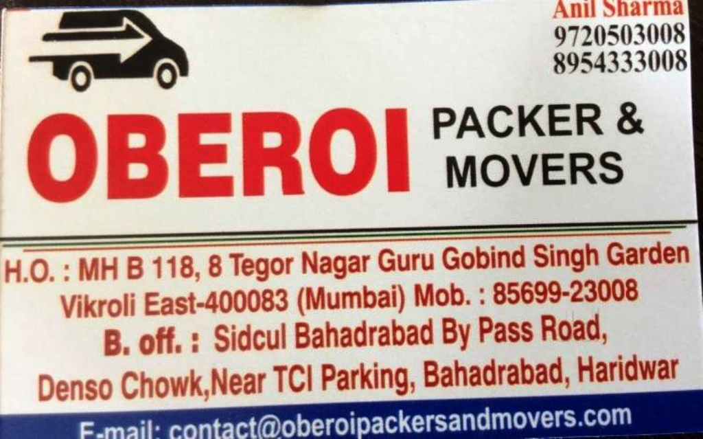 oberoi packers and movers haridwar